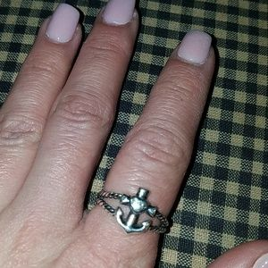 MAKE OFFER* Faith hope n love twisted rope ring